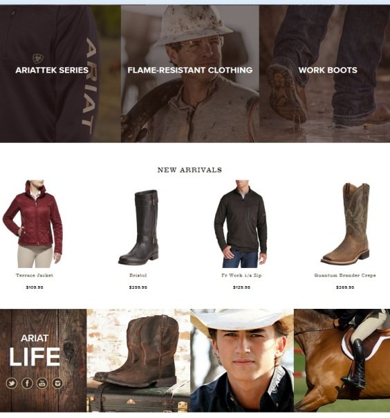 Ariat is our supplier for high quality chaps and boots