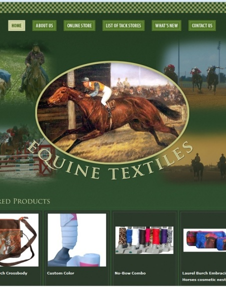 Equine Textiles is our source for unusual or custom saddle pads and leg wraps