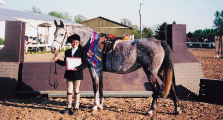 Laura Burgett won the 2001 April Equitation Classic Finals on Dorothy