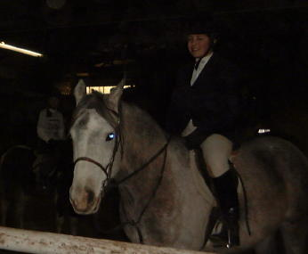 Rebecca Ickes on Dorothy at the January 2001 Winter Schooling Series