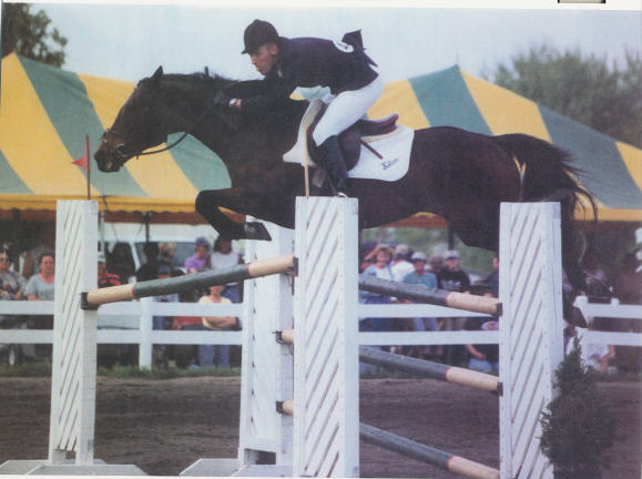 Kris Killam in the Grand Prix at the Midstates Spring Horse Show, 2000