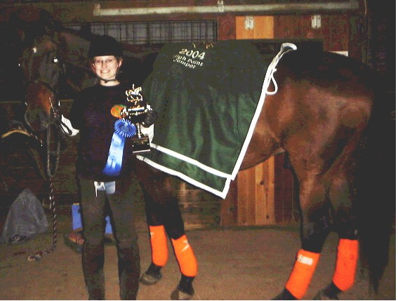 2004 High Point Jumper Rider Laura Siroky and her horse, Trendsetter