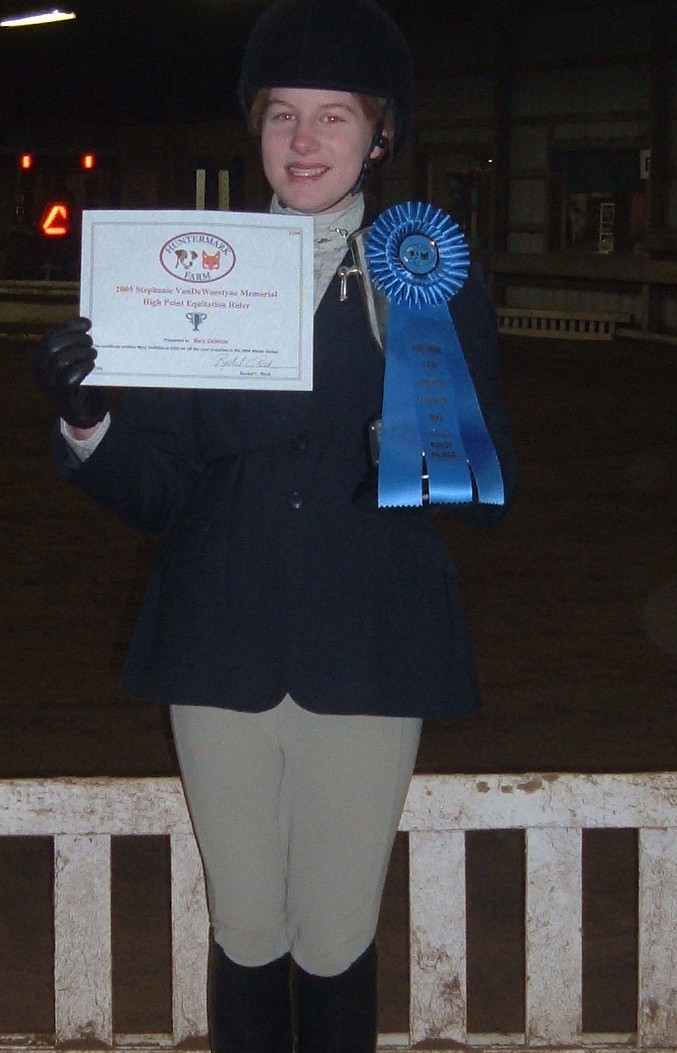 The most successful equitation rider of the 2005 summer season