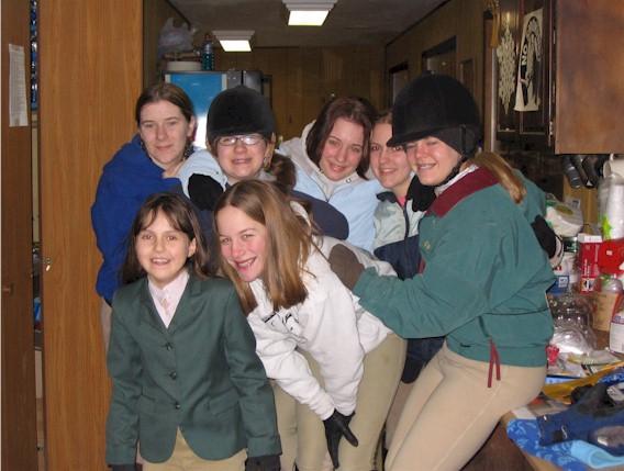 Back Row: Katie Homrighausen, Frankie Byczynski, Jody Wellman, Allie Armetta;  Front Row: Gabrielle Armetta, Mary DeWilde, and Ellen Reeder