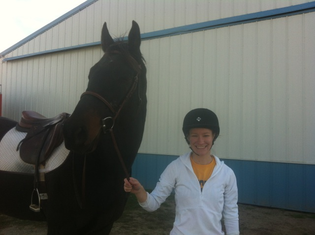 Allison Schaley and her horse, Jake