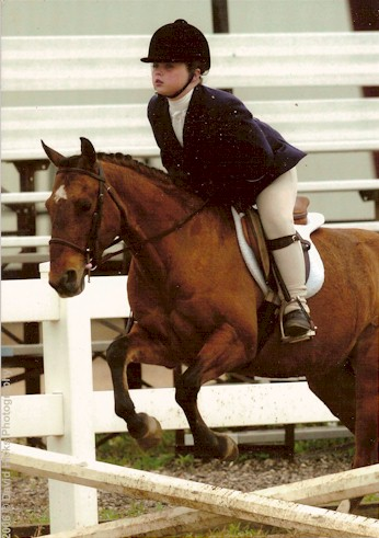 Melonie with owner Cathryn at the 2006 Double Point Show