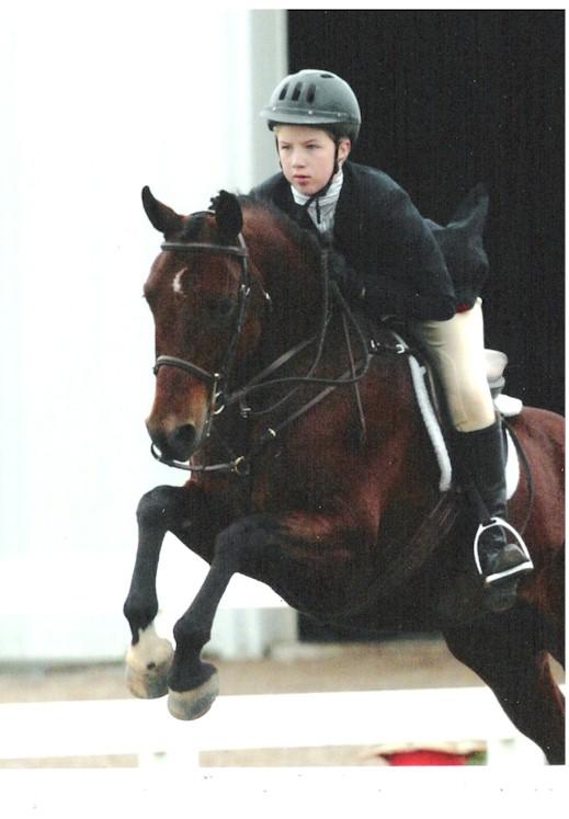 Sara VanIseghem and her pony Navigator