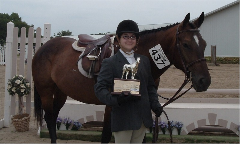 Frankie Byczynski and her first horse Good Will Hunter