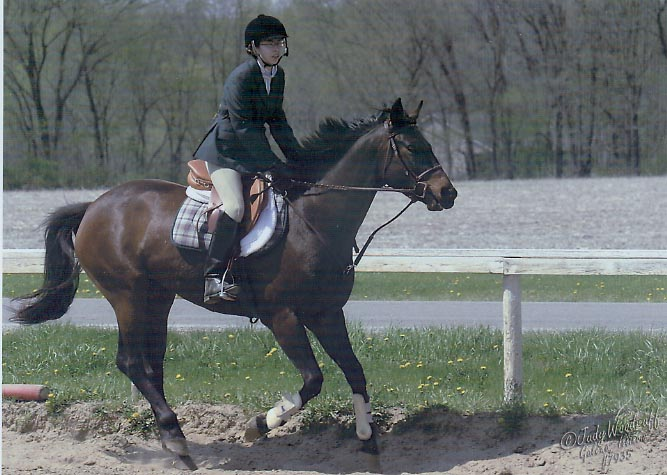 Gracie with Leslie Sommer at a schooling show in April 2003