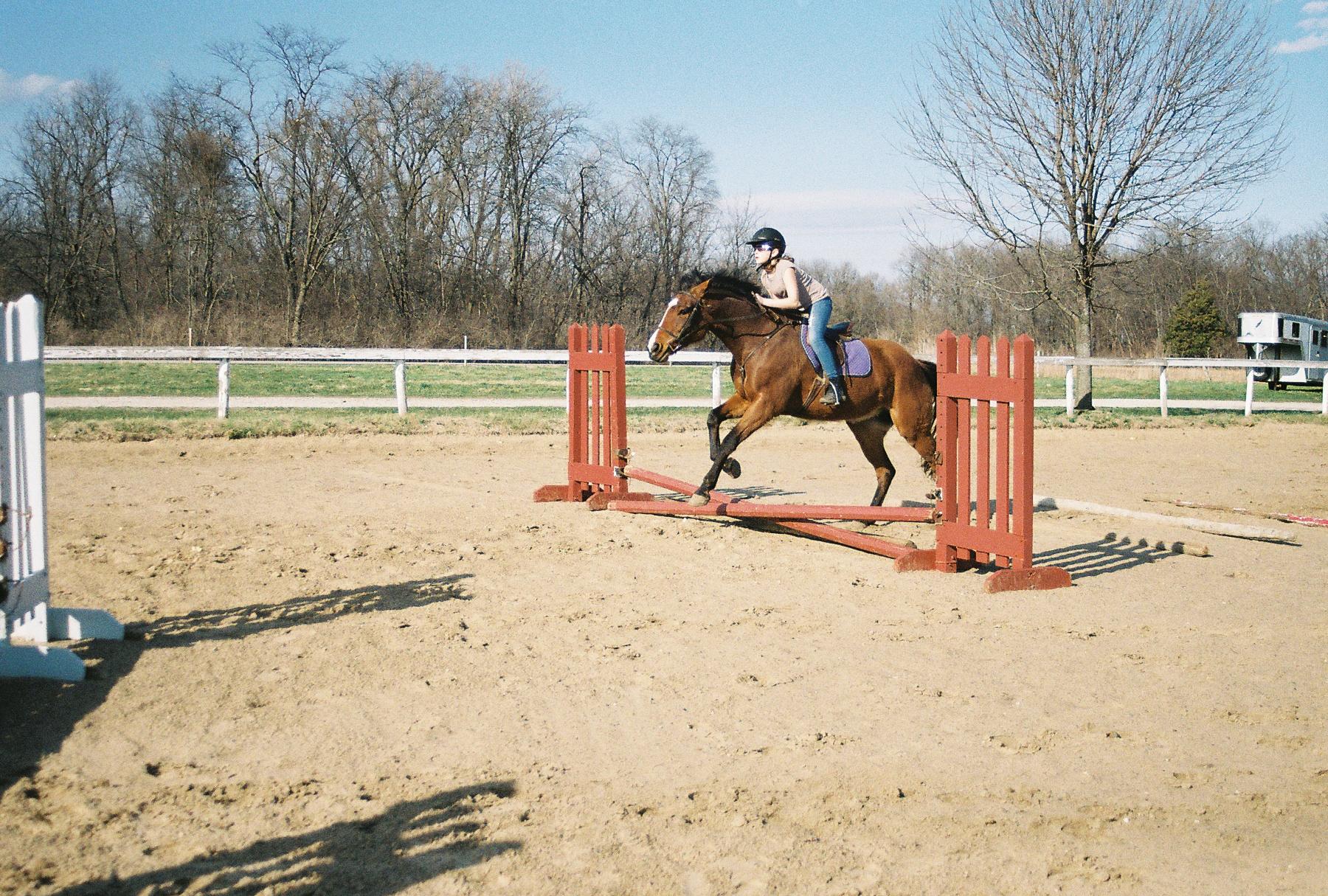 Gretchen Grace riding Ivy, spring 2011