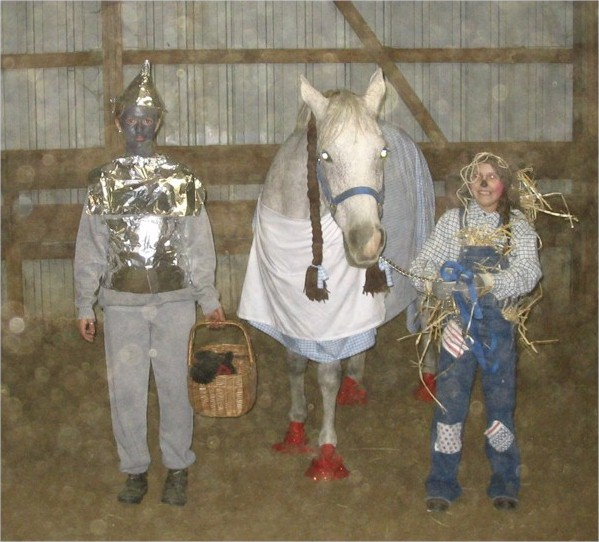 The Wizard of Oz!  Allie Armetta as the Tin Man, Gabrielle as the Scare Crow, with Dorothy as Dorothy!  2005