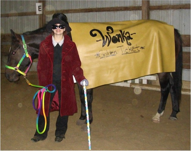 Frankie Byczynski as Willy Wonka and her pony is the golden ticket, 2005