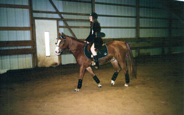 Lesley Quillen as a punk girl with her pony Luke as a skater boy, 2002