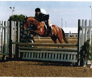 Amanda Beyer and Hamlet winning a Children's Hunter class in the Main Hunter Ring