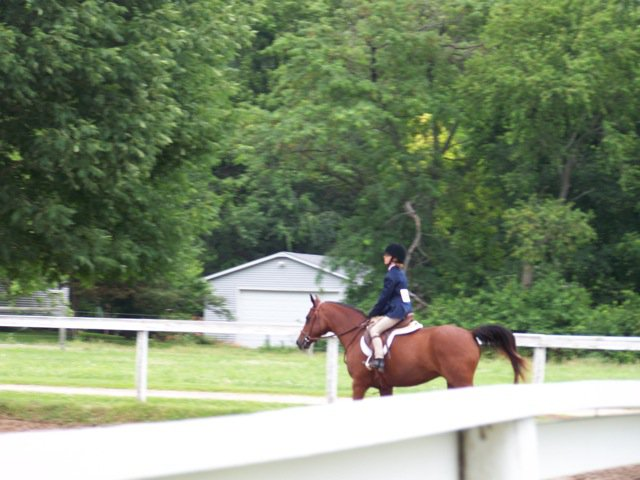 Isabel Zimmerman riding Navarro