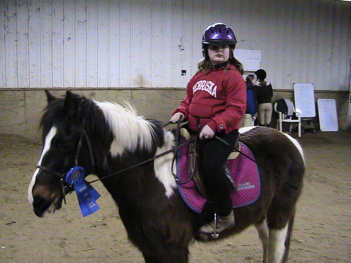 Ashlyn won a 1st place her first time showing Joey