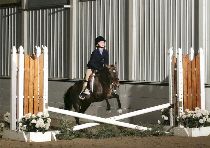 Savannah Chapman and her pony Chasing Rainbows, Jan 2008