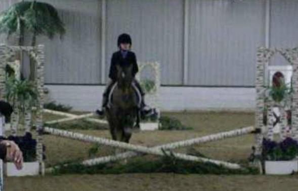 Savannah Chapman and her pony Chasing Rainbows