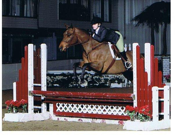 Ellen Reeder and her horse Eligible Bachelor