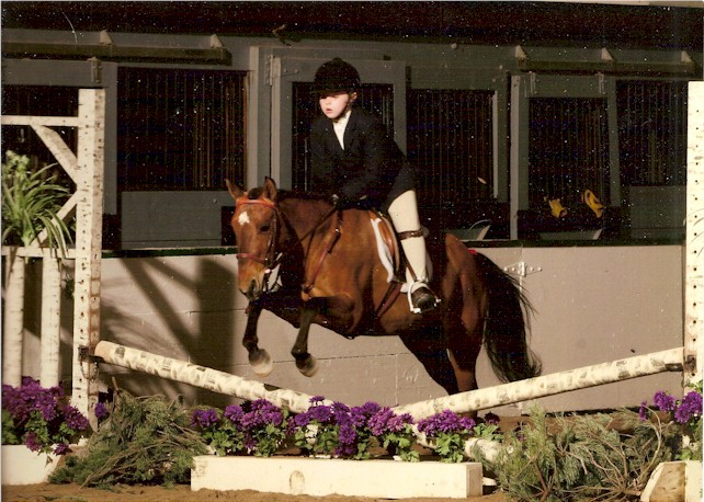 "Melonie competing in her first USEF ""A"" Rated horse show"