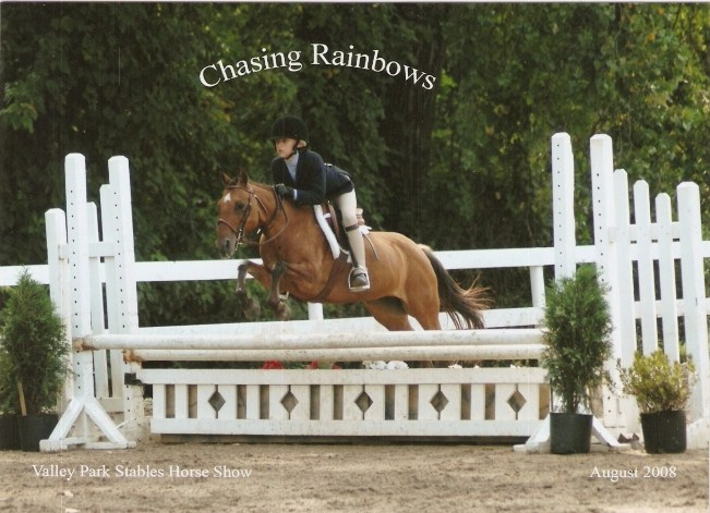 Savannah Chapman and her pony Chasing Rainbows competing in the Children's Pony division