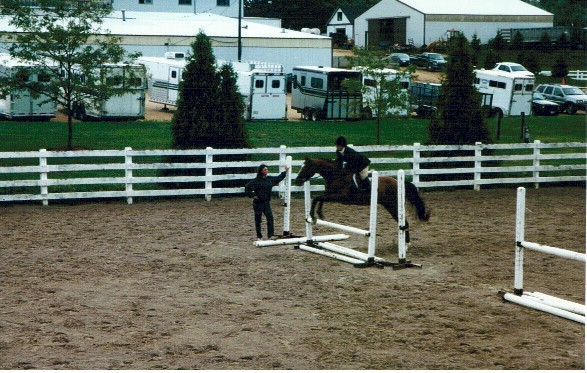 Classic Rock in the hunter schooling ring at Ledges