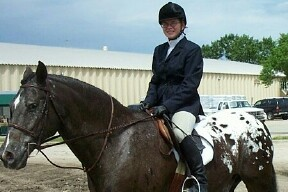 Annie Rybak riding Thundering Dakota