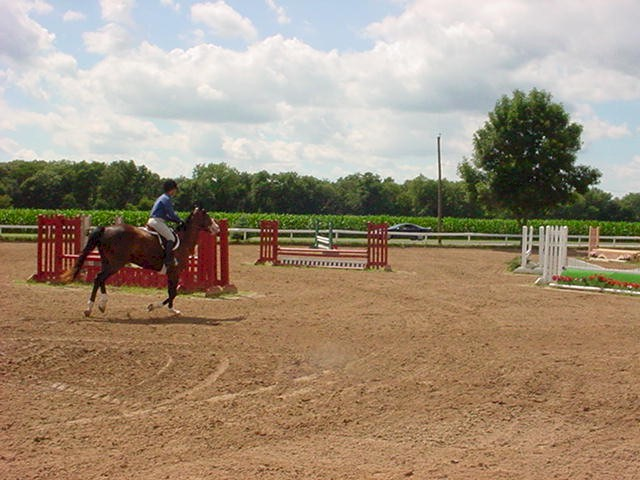 Warming up before Jumpers