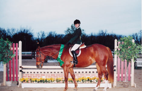 Rosemary Shelly and Clapton in the 2000 Equitation Classic Finals